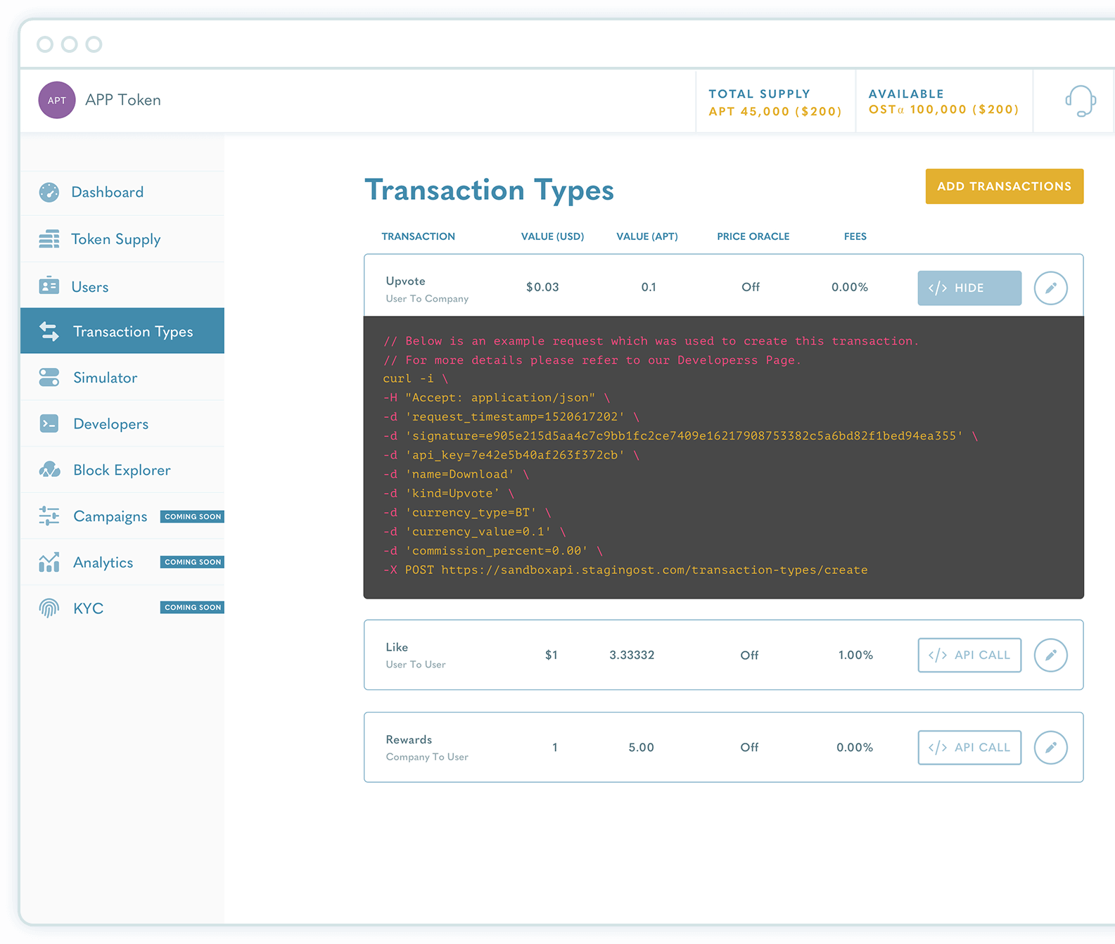 OST - Transaction Types