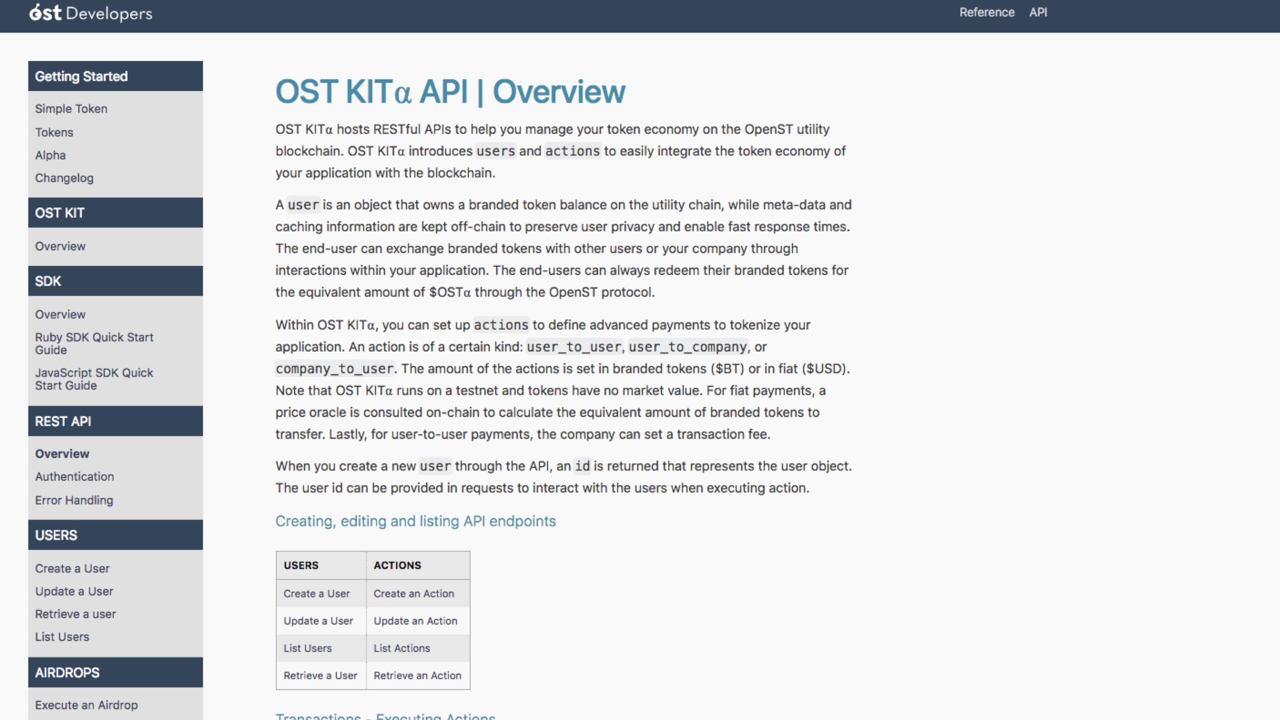 Launched: OST API v1.0