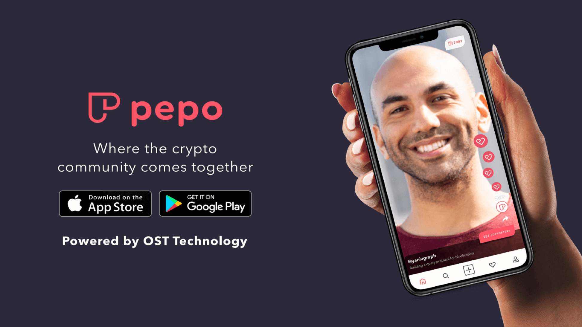 OST technology powers Pepo: The social app for the crypto community