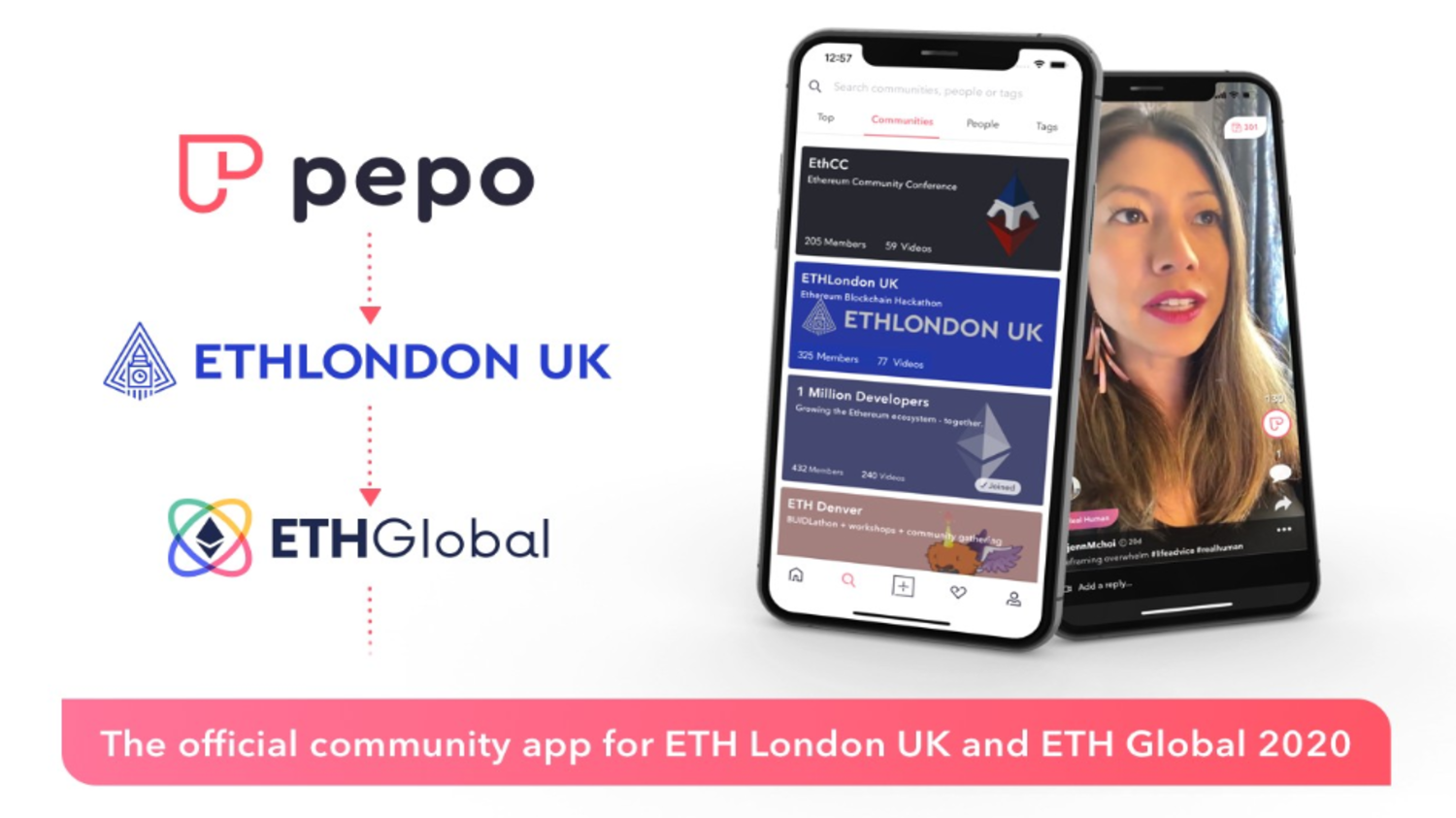 Pepo — the Official Community App for ETHLondonUK, ETHGlobal 2020, and beyond
